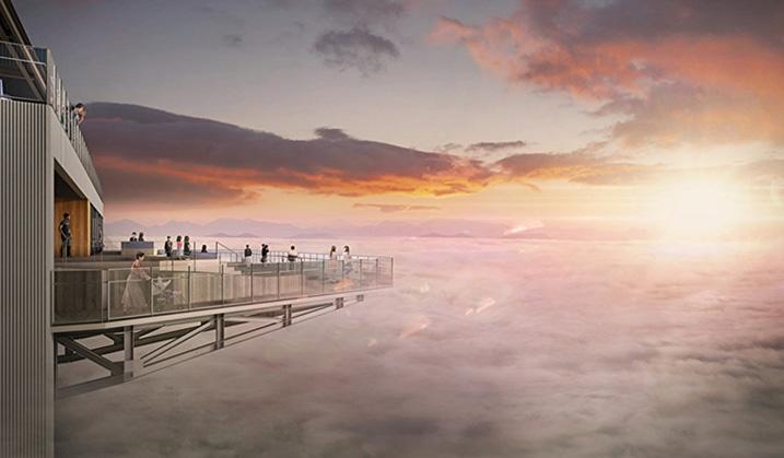 <p>2021年8月、「雲海テラス」リニューアル</p> 2